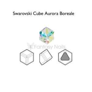 Swarovski Cube Aurora Boreal