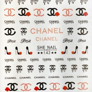 Pegatinas Chanel negro