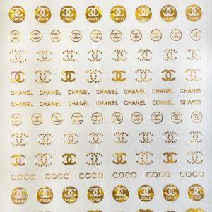 Pegatinas Chanel oro