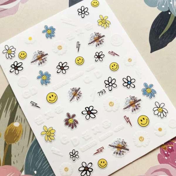 Pegatina Emoji y Flor – 37