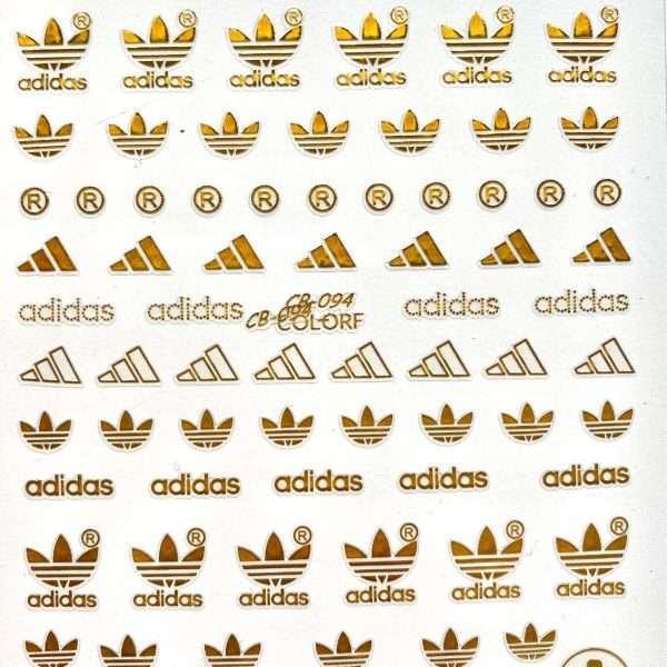 Pegatinas Adidas dorado 094