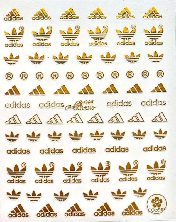 Adidas dorado Pegatinas Adidas dorado 094