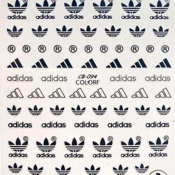 Pegatinas Adidas negro 094
